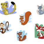 Exemples de mascotte réalisées en vectoriel.