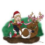 """Participation au calendrier de l'avent Chacalprod 2009. Thème : """"la fille du Père Noël"""". The Gimp."""