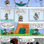 """""""Le castor explore"""". Une trentaine de strips publiés dans """"Le Courrier Picard""""."""