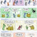 """""""Microzone"""". Série d'une trentaine de gags parus dans """"Le Courrier Picard""""."""
