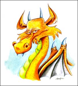 Dragon à l'aquarelle.