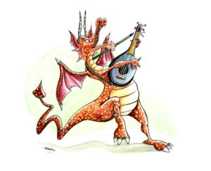 Dragon musicien