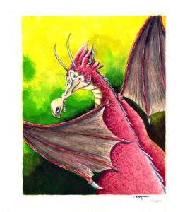 Dragon Aquarelle