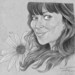Chuck de Pushing Daysies (Anna Friel). Graphite sur papier mi-teintes.