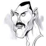 Freddy Mercury. Feutres et crayons graphites.