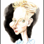 Tilda Swinton. Aquarelles.