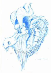 Crayonné du dragon.