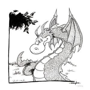 Dragon Serpent - Encre.