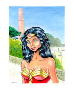 Wonder Woman. Acryliques sur carton.