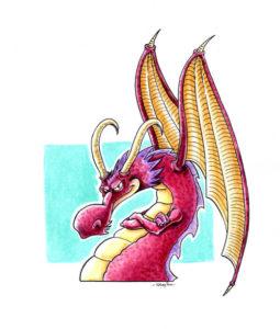 Dragon aux bras croisés.